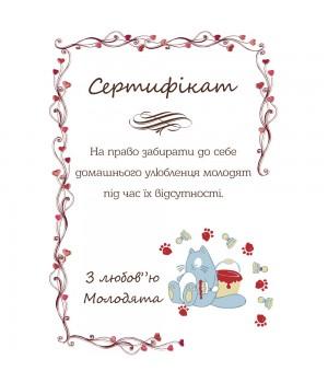Сертификат для конкурсов №34