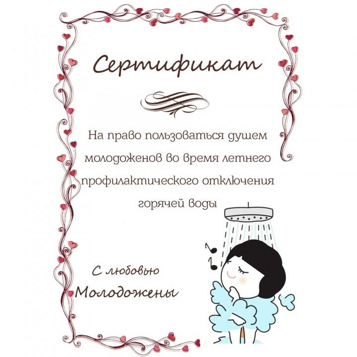 Сертификат для конкурсов №61