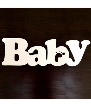 Слово Baby из дерева
